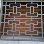 南京厂家直销铝合金窗花,仿木纹铝窗花