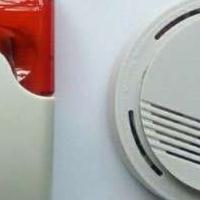 货车火灾烟雾报警器卡车烟感探测器24V运输车用烟感探头车载