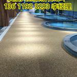 北京彩色粘胶石透水地坪,厂家承接胶粘石路面强固耐磨