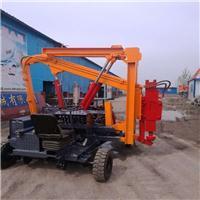简易式小四轮公路护栏钻孔机 液压建筑打桩机价格 打拔钻一体机