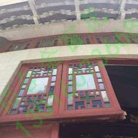 会议室吊顶装饰木纹铝窗花,热转印木纹铝窗花