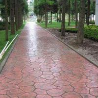 彩色混凝土材料施工使用方法-甘肃普林德