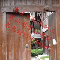 重庆景区大门防腐木牌坊制作厂家