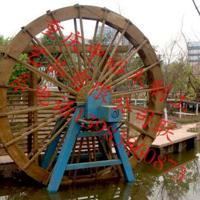 供应重庆防腐木水车景观电动水车装饰水车