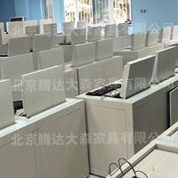 可升降屏风电脑桌校用防作弊考试电脑桌液晶屏风升降考试桌