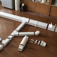 供应PVC天沟、别墅双壁落水系统,排水檐槽