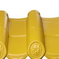 高分子仿古筒瓦-檐瓦藏金色-家园灰-普陀橙-装饰瓦
