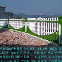 赣州信丰水泥仿木栏杆 阳台护栏 别墅庭院围栏 罗马柱 葡萄架 假山