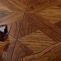 榆木复合实木地板 古典艺术拼花