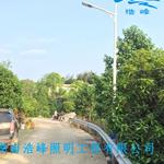 湖南郴州宜章农村太阳能路灯 太阳能路灯杆件配件找浩峰照明