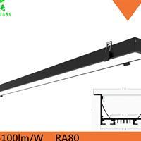 40WLED办公嵌入式可拼接线条灯0.9米40wLED直下式线形灯可吊装