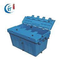 烟草周转箱斜插烟草配送箱带盖塑料箱上海大号烟草医药配送箱