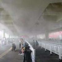 官网车间铁皮房降温系统 水雾喷雾设备 高压微细雾化降温机