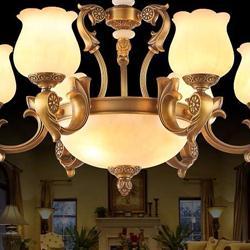 欧式云石吊灯 全铜云石吊灯 全铜吊灯