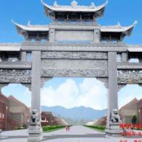 贵州农村牌坊雕刻