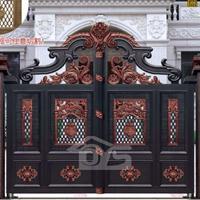 欧雅斯推拉庭院门、铝艺大门焊接、铝合金大门定制