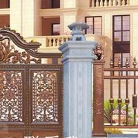 欧雅斯厂家直销豪宅庭院门、铝合金庭院大门、实心铸铝门定制