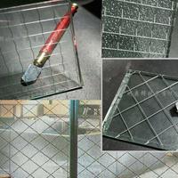 夹丝玻璃 进口防火夹丝玻璃 透明钢丝夹丝玻璃