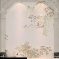 大理石电视背景墙 客厅通体岗石罗马柱背景墙