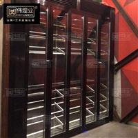 不锈钢酒柜黑钛 恒温不锈钢红酒柜 酒店红酒柜定制