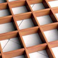 铝格栅吊顶彩色木纹格栅吊顶材料集成吊顶昆明云南厂家