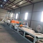 大型新型岩棉砂浆复合板生产线,水泥砂浆复合岩棉板设备