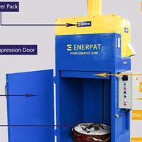 欧美标准200L大油桶压扁机,压桶机专业生产
