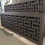 专业厂家定制各种仿古木纹铝窗花-木纹铝花格-门头装饰铝挂落