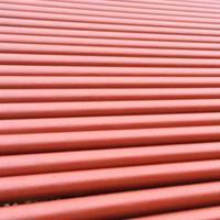 W型机制柔性铸铁排水管内黄外红防腐油漆喷涂