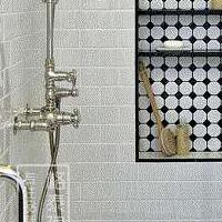 北欧八角小白砖 厕所瓷砖 墙砖 马赛克瓷砖