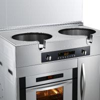 美大(MEIDA)喜臨門8K 環吸下排集成灶煙機燃氣灶烤箱高端集成灶