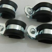 铁镀锌R型线夹  金属包胶单片固定卡扣规格齐全