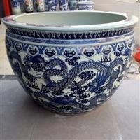 景德镇陶瓷大缸出售 养锦鲤鱼缸图片 1米的陶瓷缸价格
