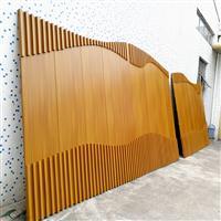 室內大堂裝飾木紋鋁板鉚方管