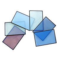 厂家直销 4mm蓝色、灰色、茶色、绿色镀膜玻璃 规格齐全