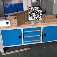 木板桌面钳工桌,钢木结构钳工作业台,模具装配平台生产厂家