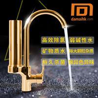 多功能厨房卫浴冷热双用全铜主体304不锈钢钢管带过滤净水龙头