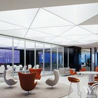 软膜天花办公室吊顶造型设计