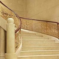 区别铜楼梯扶手 镀金铜楼梯加工价格