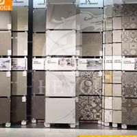 推拉柜墙砖地砖多功能可调节定制平移轨道展架瓷砖展示架