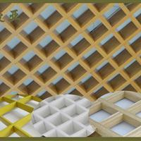 批发吊顶铝格栅 室内装修隔断铝格栅 防静电U型木纹铝格栅厂家