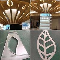 鏤空樹葉造型鋁單板-透光鏤空包柱鋁單板廠家生產
