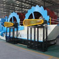 砂石物料洗选脱水设备 新型环保双轮洗砂回收一体机洗选效果