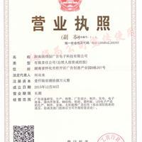 湖南耐得丽广告电子科技有限公司营业执照