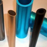 专业加工氧化铝管 打孔开角精密切割口红香水管彩色小铝管