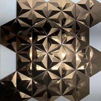 佛山高比不锈钢厂家供应不锈钢花纹板3d墙面装饰板
