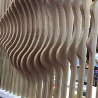 成都波浪形铝方通厂家 定制异形铝方通 弧型铝方管装饰