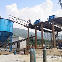 污水处理零排放工艺 洗沙废水处理现场