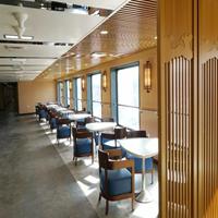 餐厅铝花格窗花 仿真木纹铝窗花 油漆铝窗花