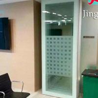 [折叠玻璃隔断]可移动隔音的会议室玻璃隔断